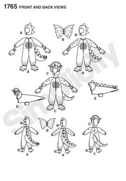1765 Simplicity Pattern: Child's and Dog Costumes